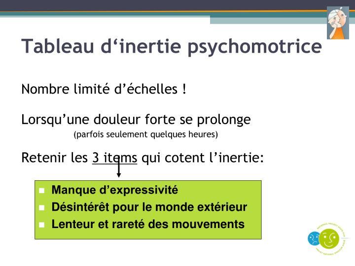 Tableau d'inertie psychomotrice