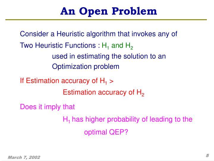 An Open Problem