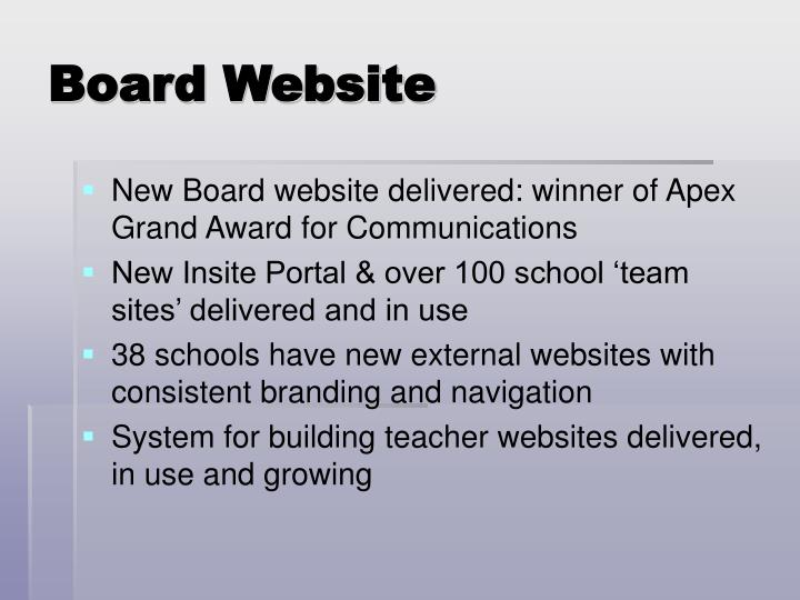 Board Website