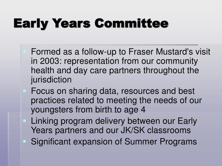 Early Years Committee
