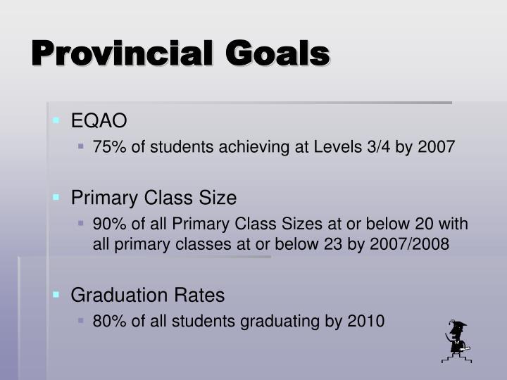 Provincial Goals