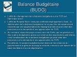 balance budg taire budg
