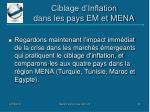 ciblage d inflation dans les pays em et mena