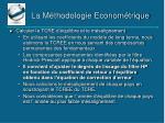 la m thodologie econom trique3