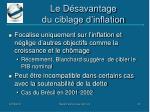 le d savantage du ciblage d inflation