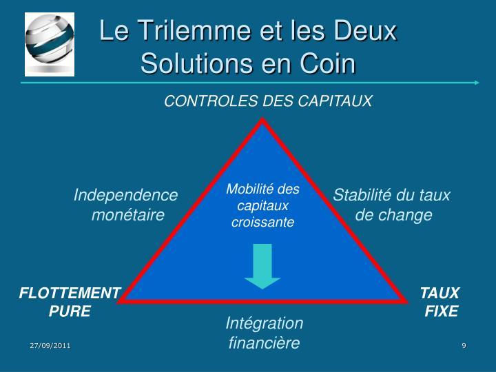 Le Trilemme et les Deux