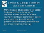 limites du ciblage d inflation la nouvelle z lande