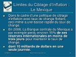 limites du ciblage d inflation le mexique