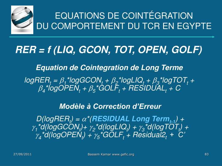 Equations de