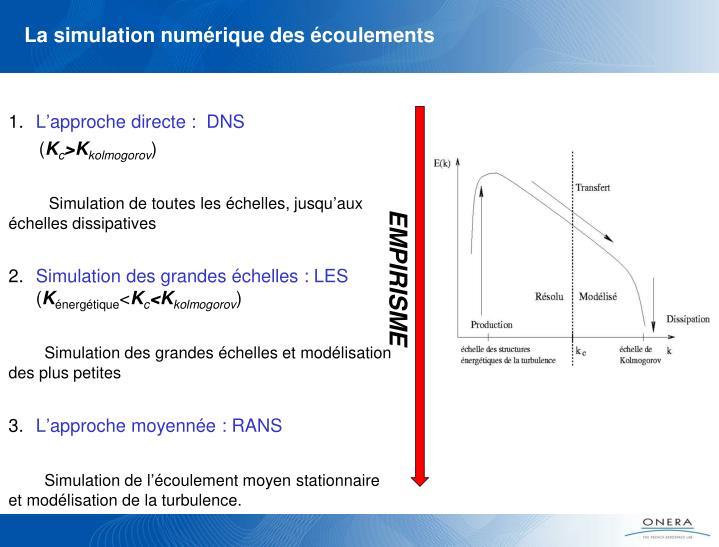 La simulation numérique des écoulements