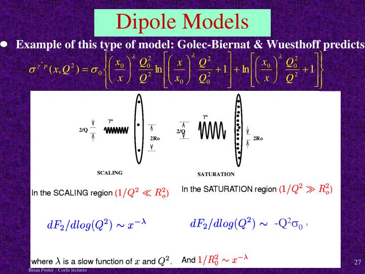 Example of this type of model: Golec-Biernat & Wuesthoff predicts