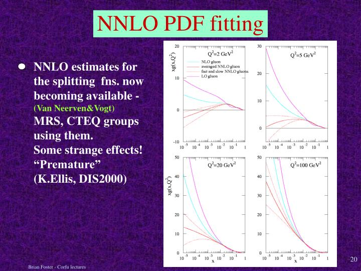 NNLO estimates for