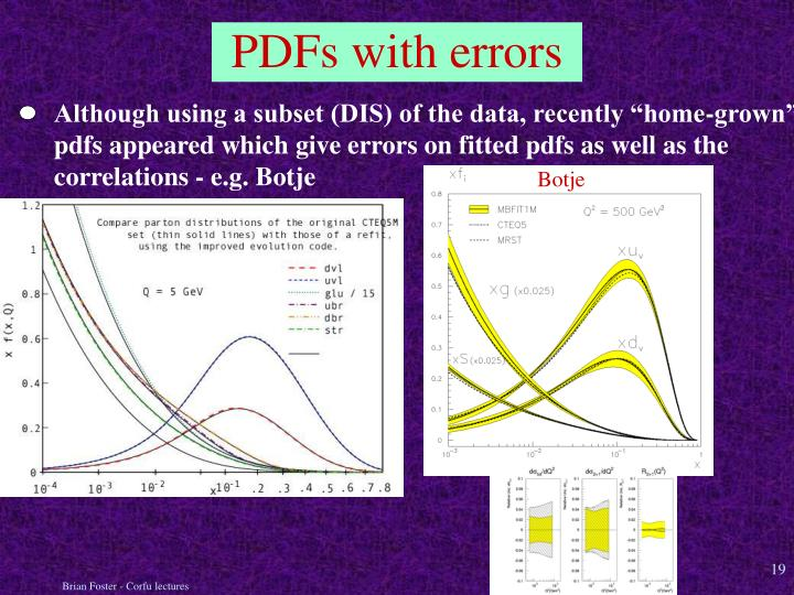 """Although using a subset (DIS) of the data, recently """"home-grown"""""""