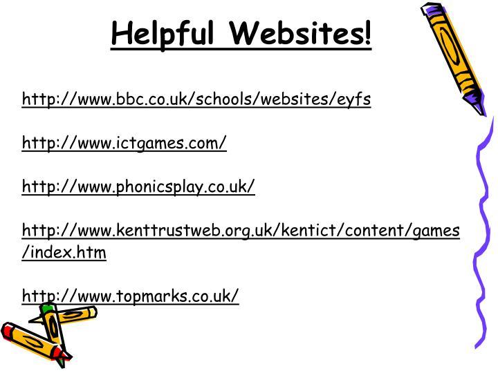 Helpful Websites!