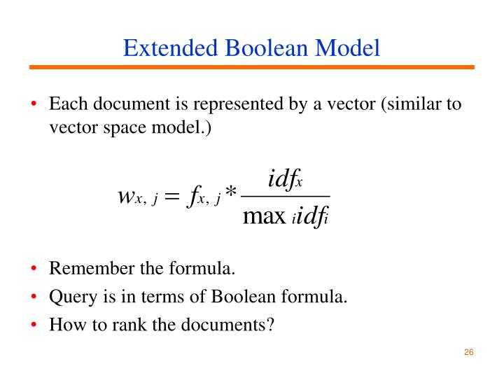 Extended Boolean Model
