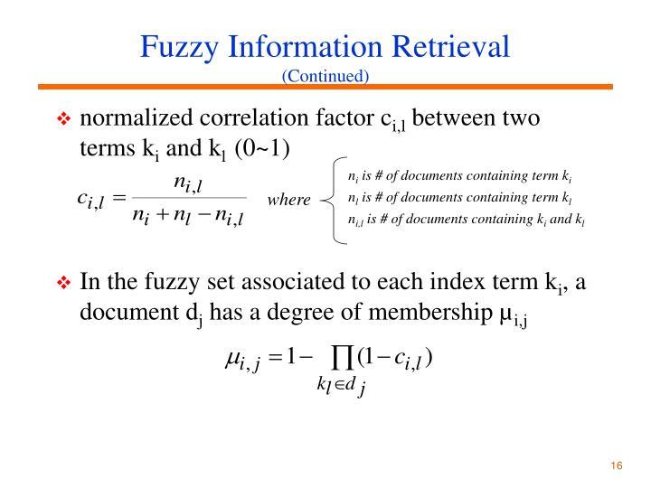 Fuzzy Information Retrieval
