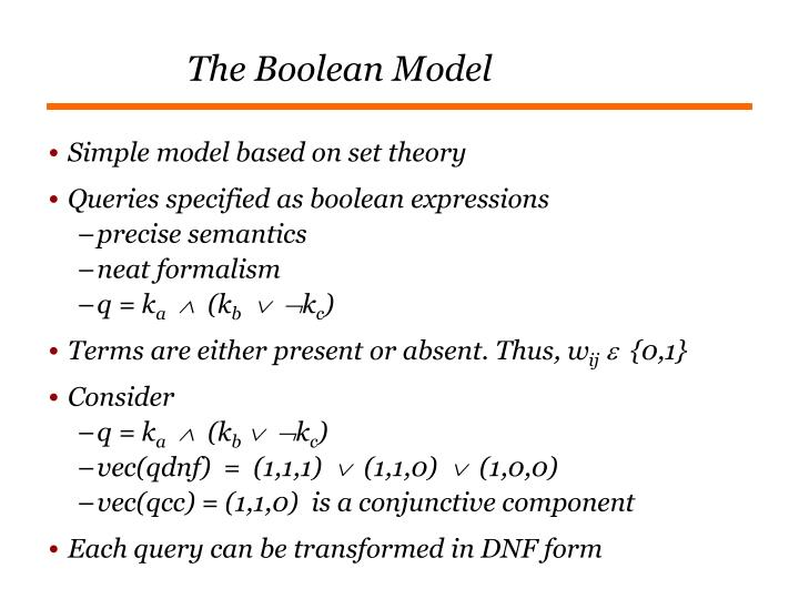 The Boolean Model