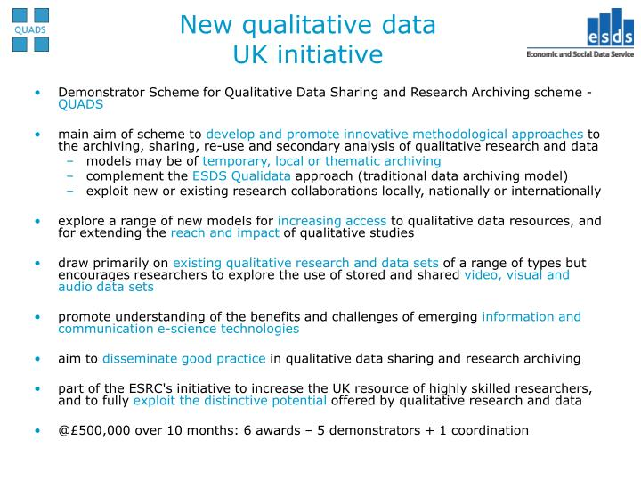 New qualitative data uk initiative