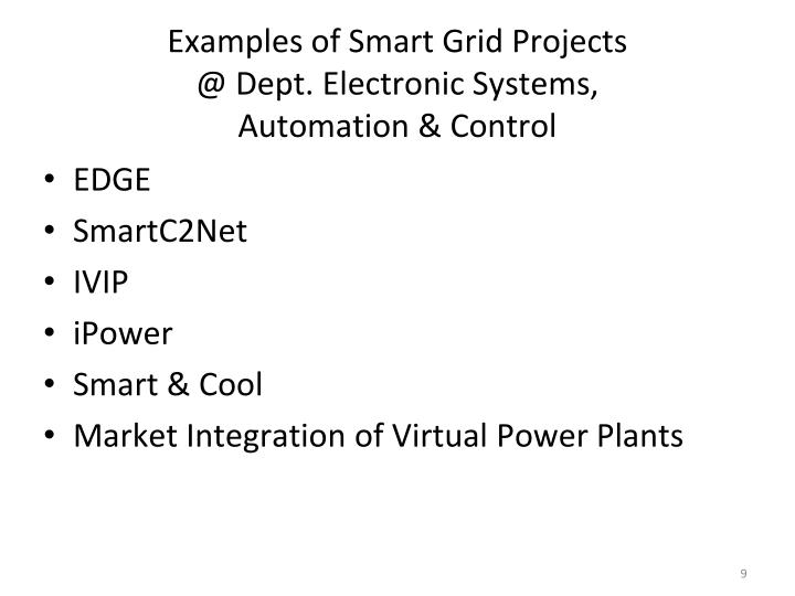 Examples of Smart Grid Projects