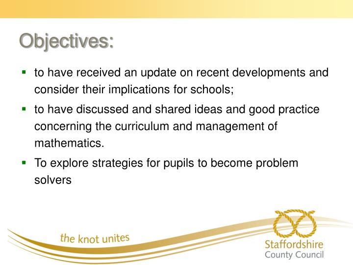 to have received an update on recent developments and consider their implications for schools;