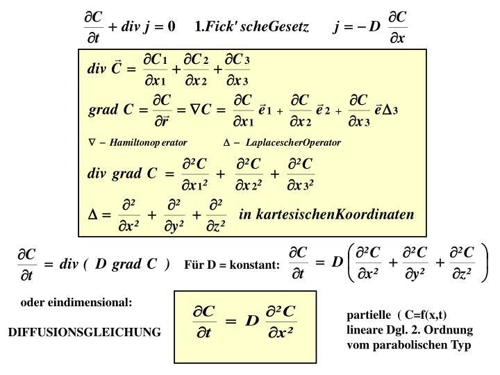 Für D = konstant:
