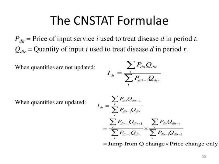 The CNSTAT Formulae