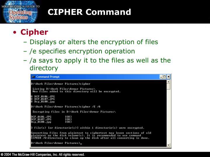 CIPHER Command