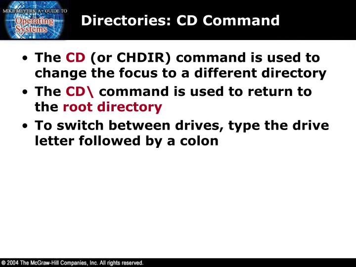 Directories: CD Command