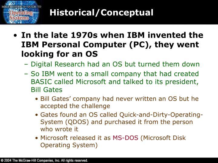 Historical/Conceptual