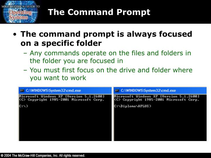The Command Prompt