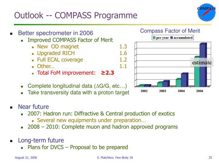 Outlook -- COMPASS Programme