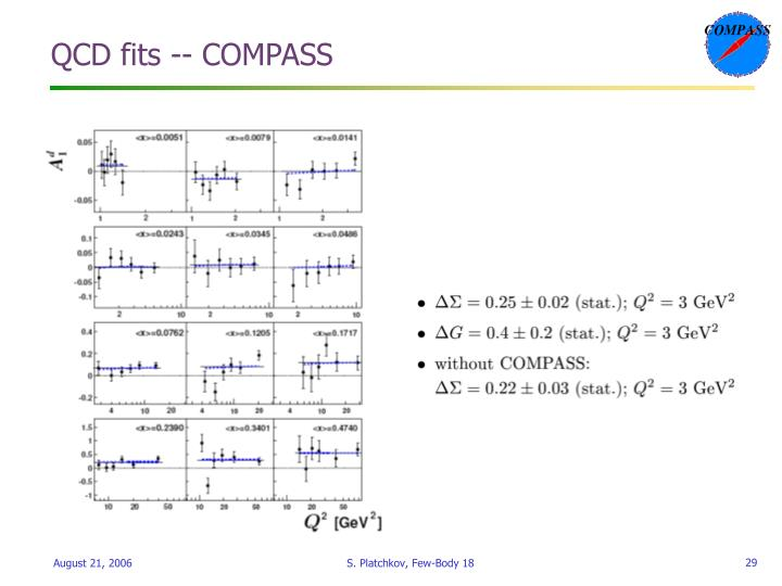 QCD fits -- COMPASS