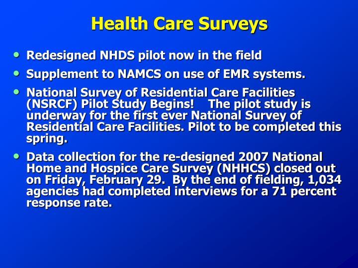 Health Care Surveys