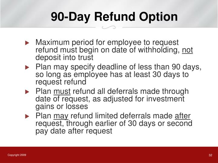 90-Day Refund Option
