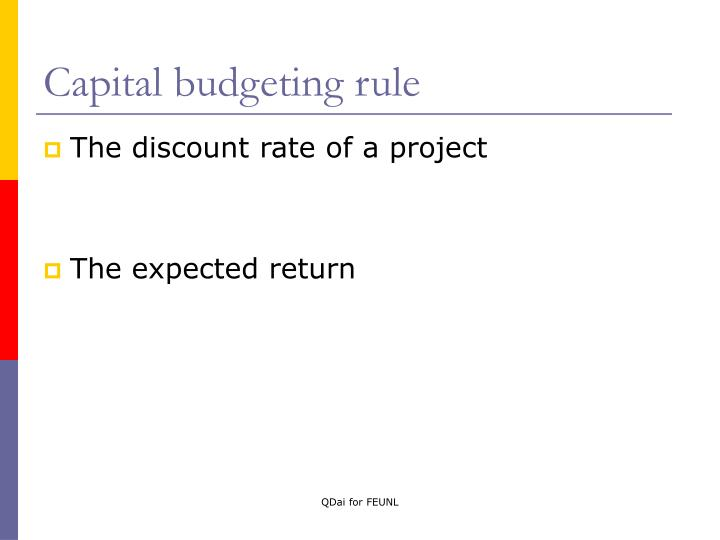 Capital budgeting rule