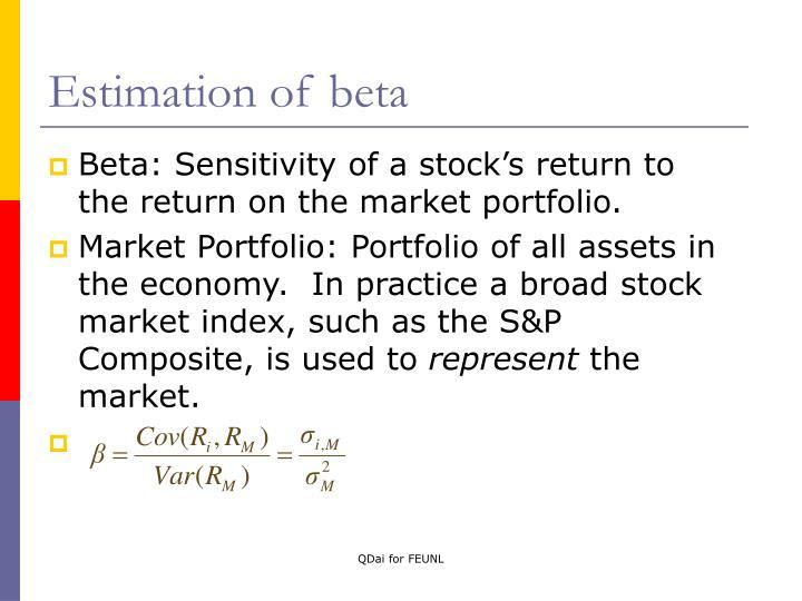 Estimation of beta
