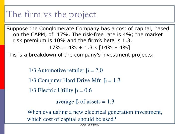 The firm vs the project