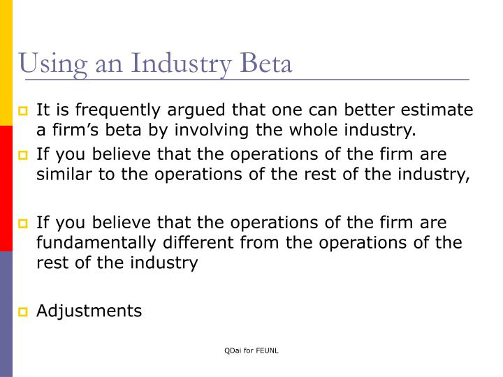 Using an Industry Beta