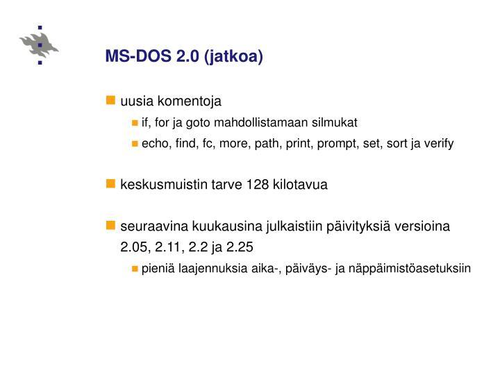 MS-DOS 2.0 (jatkoa)
