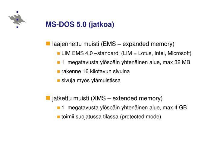 MS-DOS 5.0 (jatkoa)