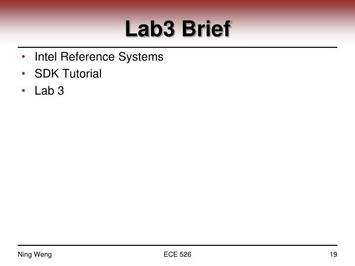 Lab3 Brief