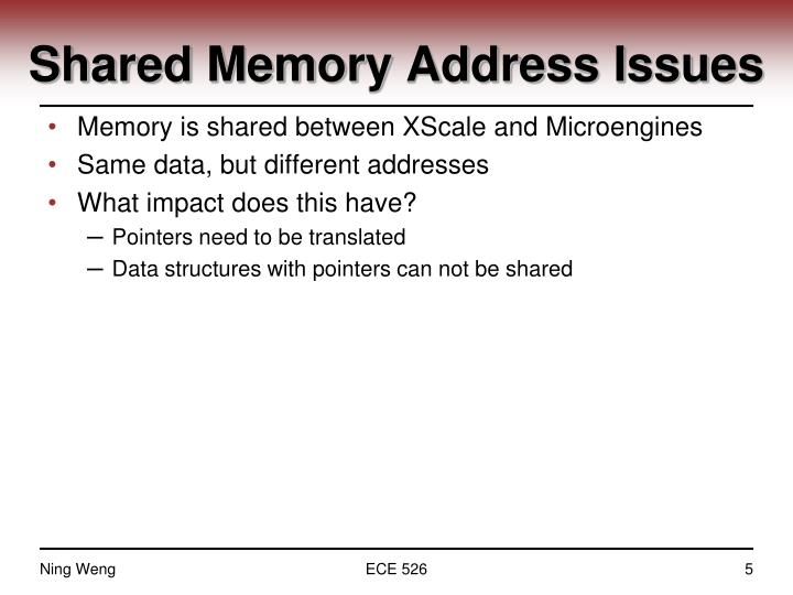 Shared Memory Address Issues