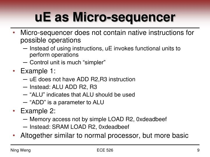 uE as Micro-sequencer