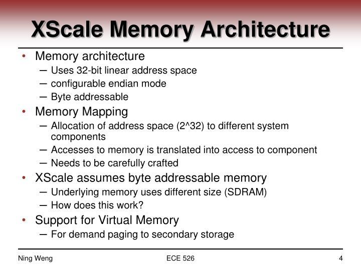 XScale Memory Architecture