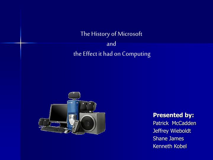 The History of Microsoft