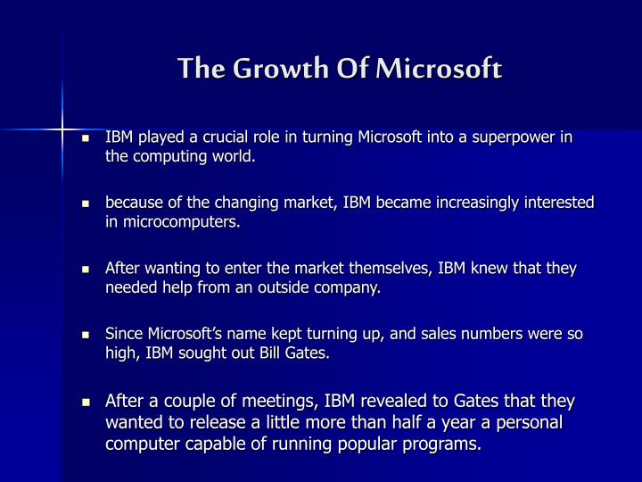 The Growth Of Microsoft