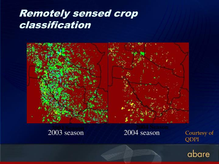 Remotely sensed crop classification