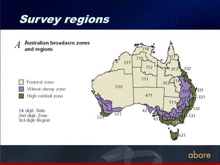 Survey regions