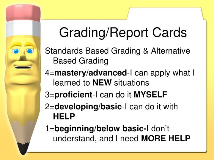 Grading/Report Cards