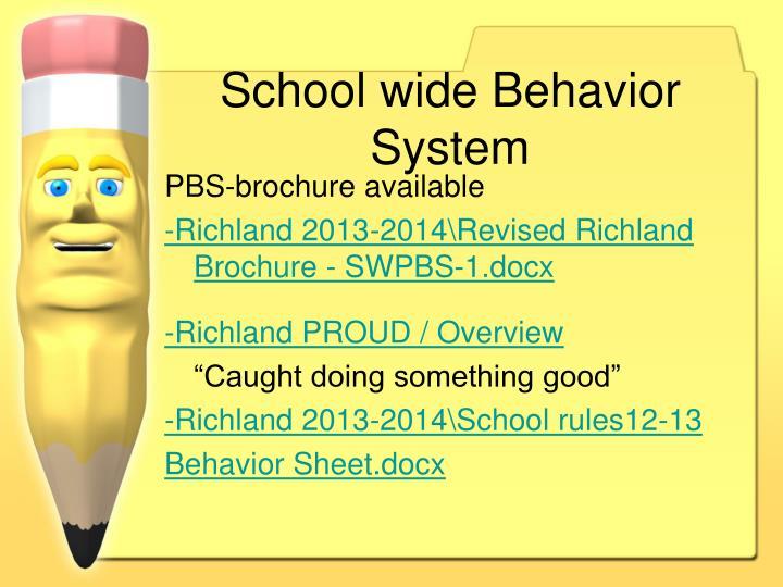 School wide Behavior System